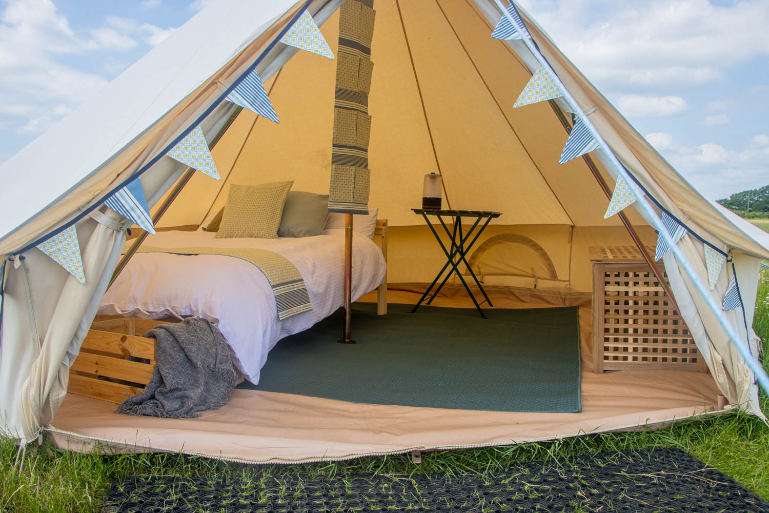 Glamping in The New Forest in bell tents