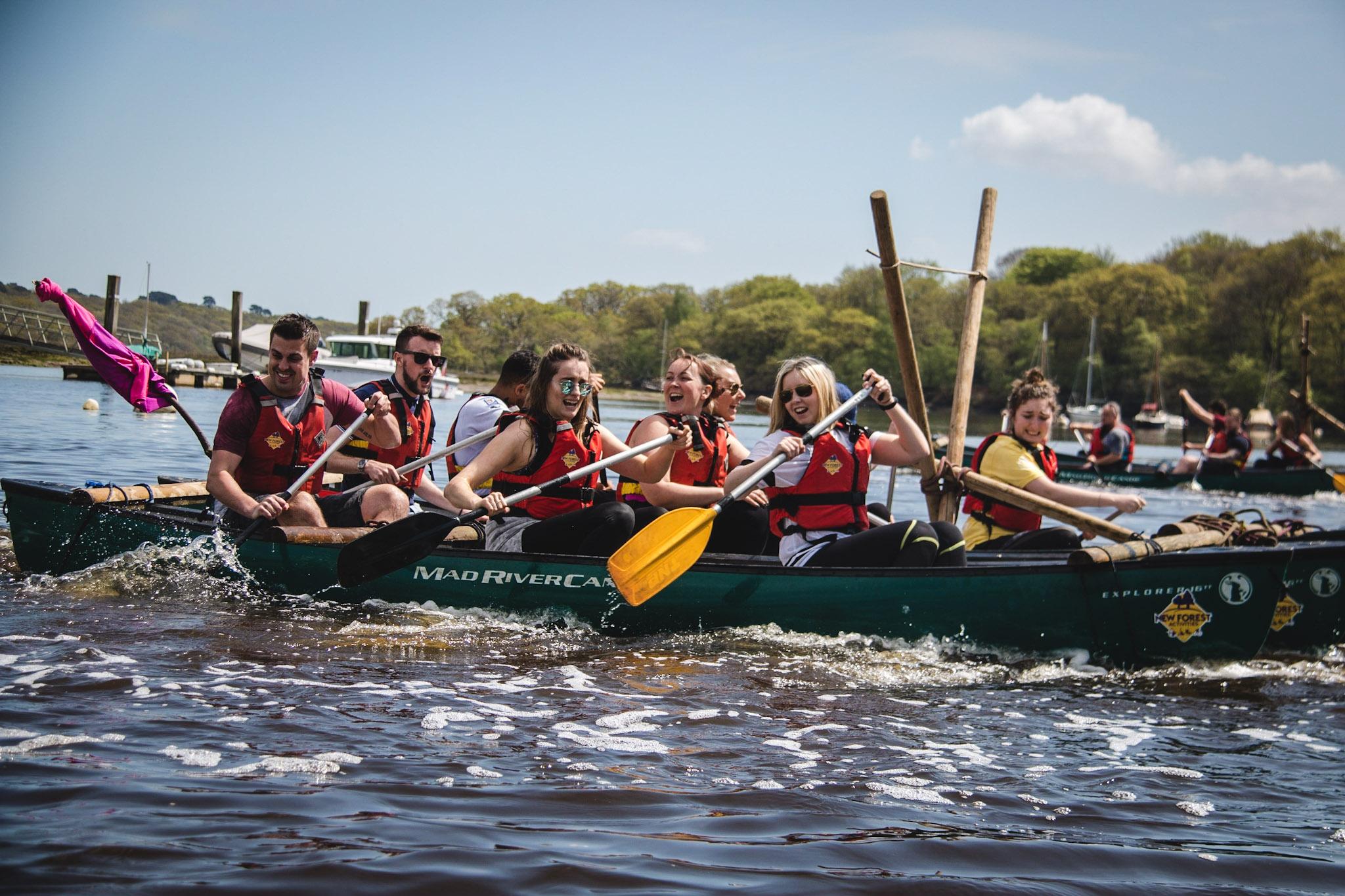 Canoe Raft Building Articles