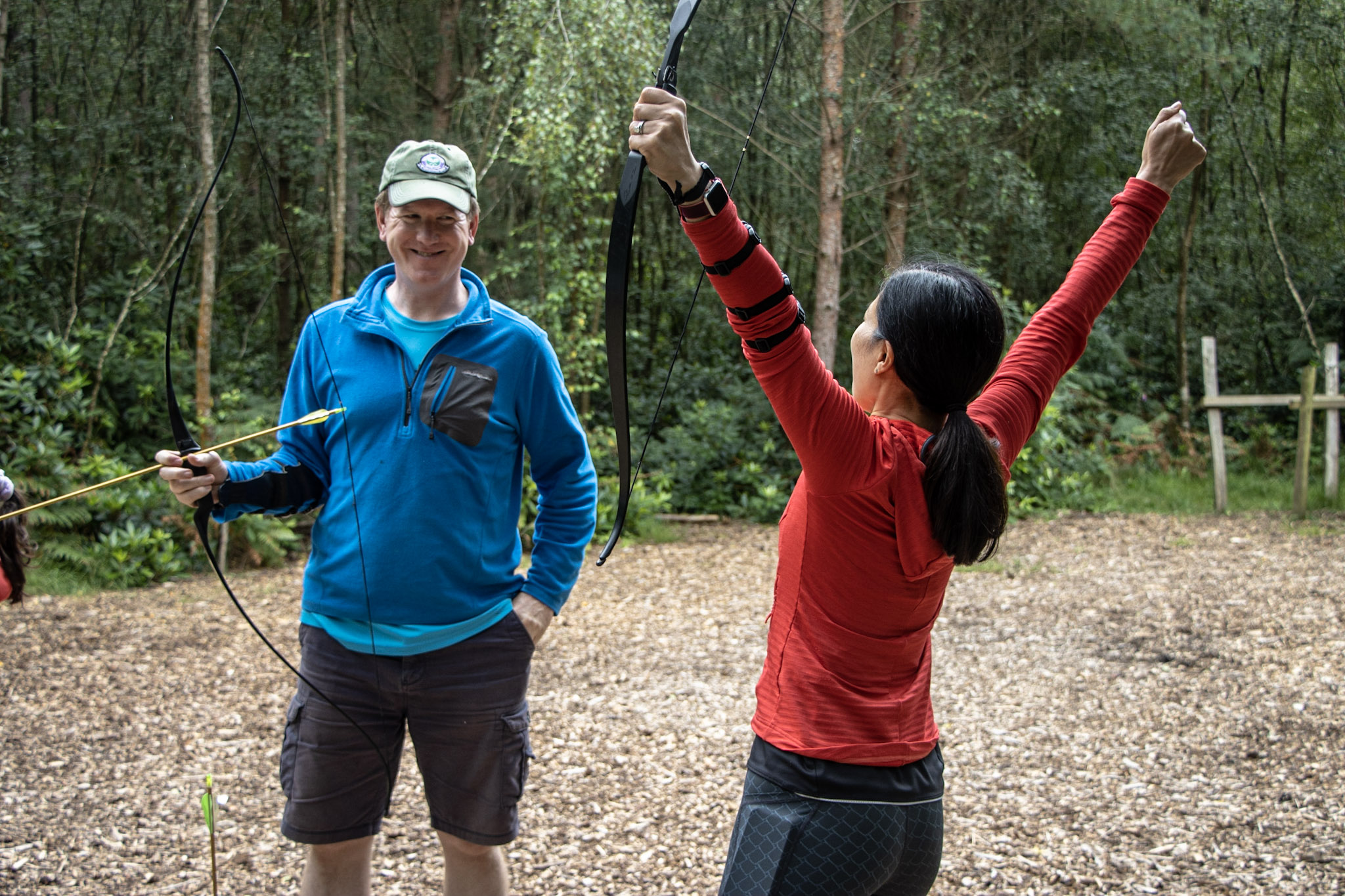A group of friends enjoying private activities, on our archery range in the New Forest