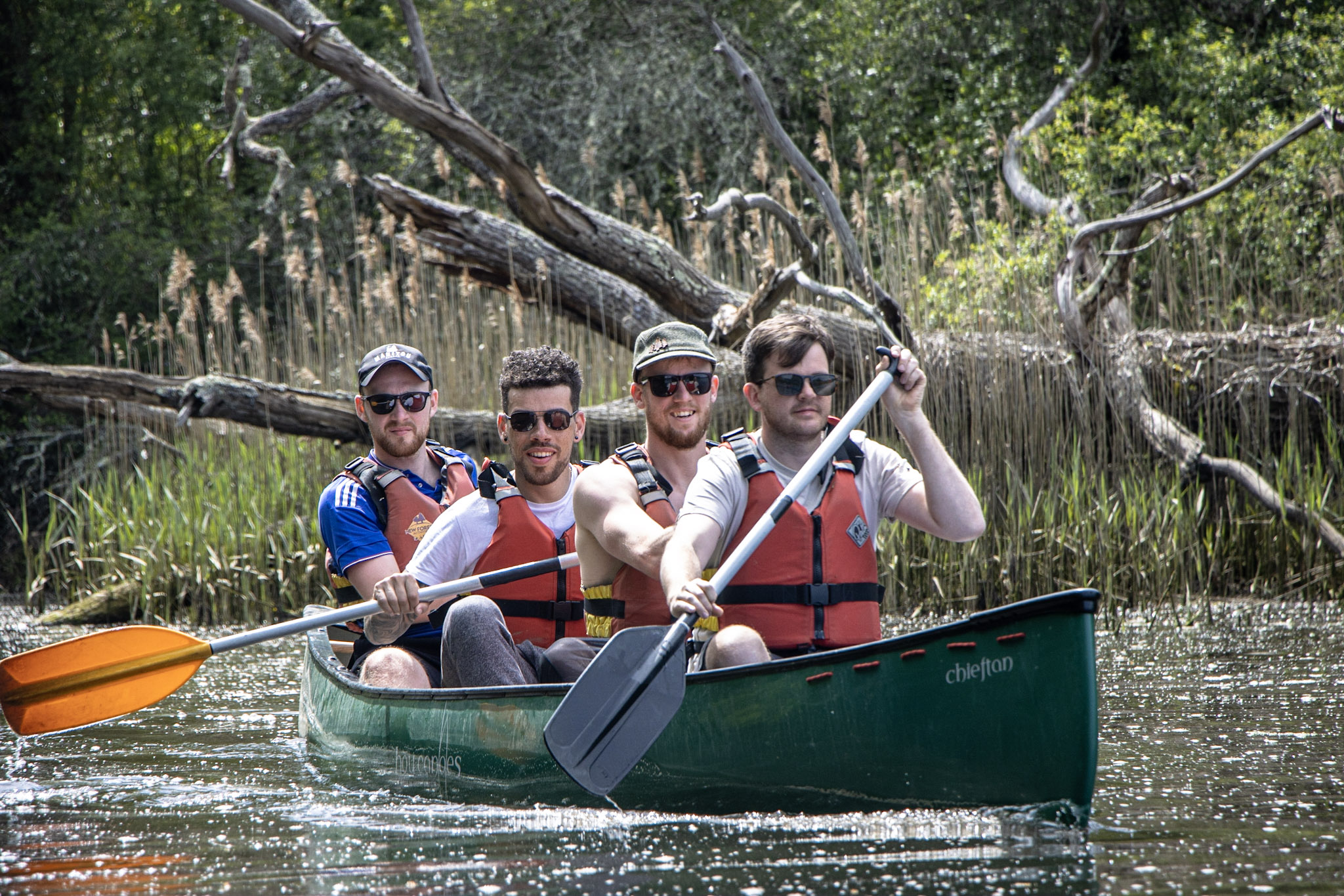 Canoeing Stag Parties in The New Forest.