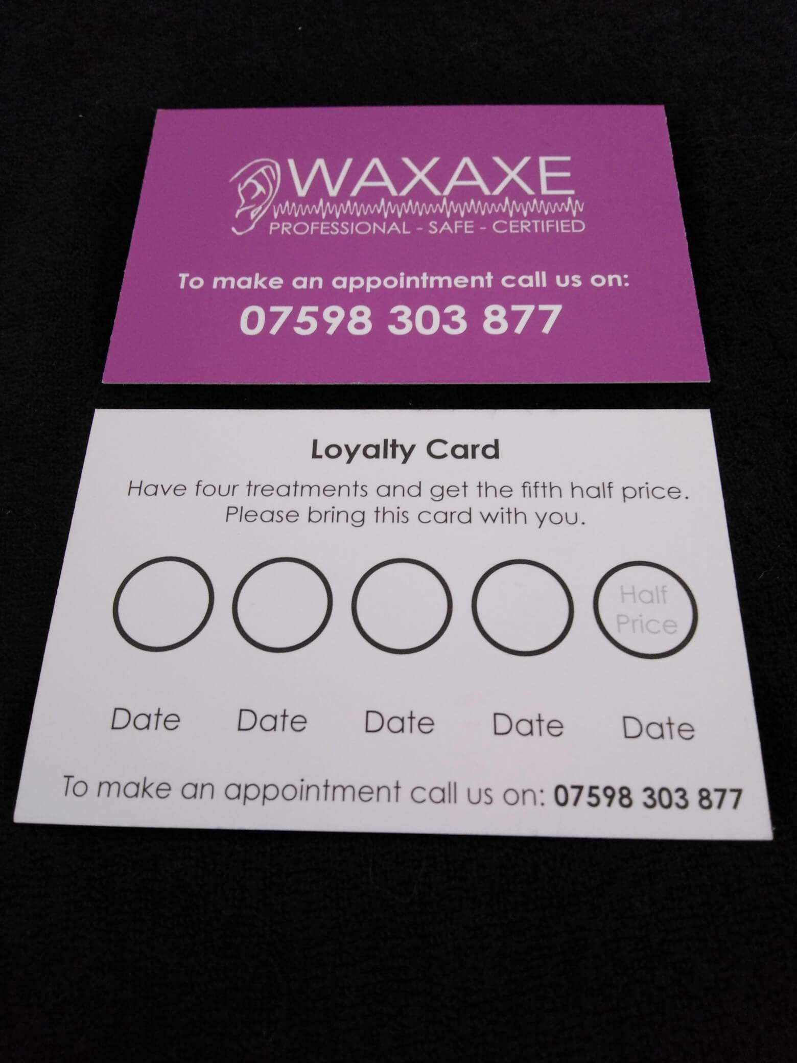 WaxAxe loyalty card