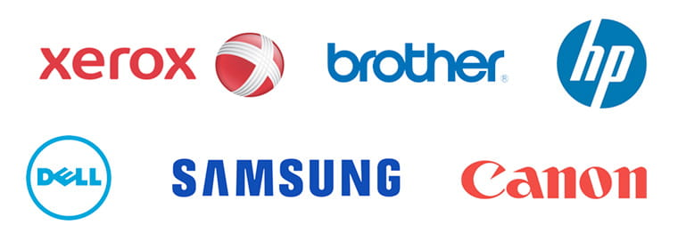 xerox, brother, HP, Dell printer logos