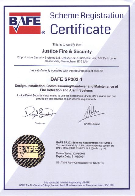 BAFE Certificate