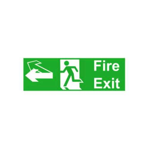FS17 440 X 150MM FIRE EXIT/RUNNING MAN WITH ARROW REVERSIBLE