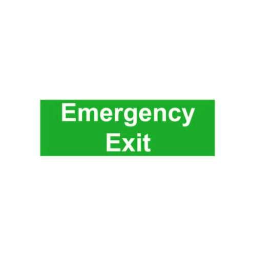 FS29 440 X 150MM EMERGENCEY EXIT/ FIRE EXIT KEEP CLEAR