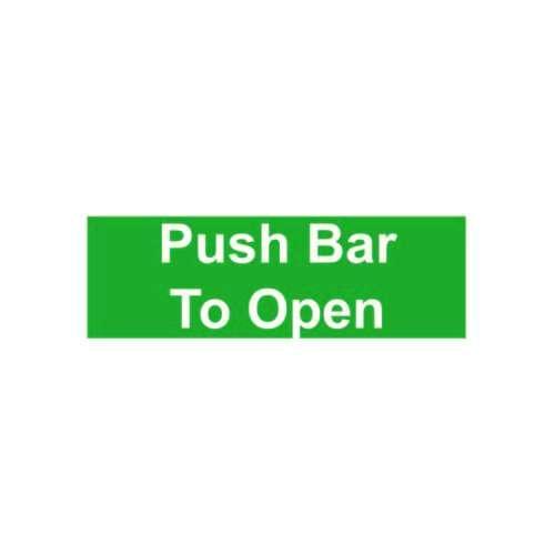 FS31 440 X 150MM PUSH BAR / PAD TO OPEN