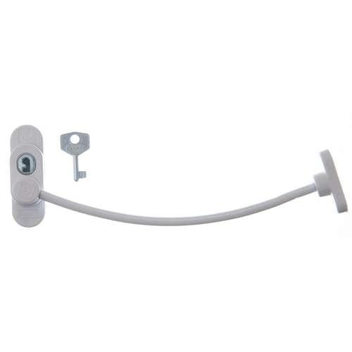 PK/ WHITE PENKID WINDOW RESTRICTOR LOCKING