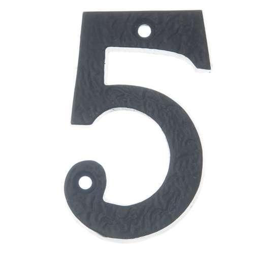 BAN BLACK ANTIQUE 75MM NUMERAL '5'