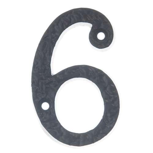BAN BLACK ANTIQUE 75MM NUMERAL '6'