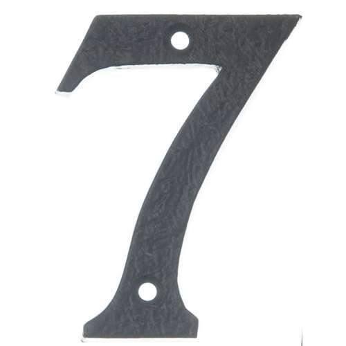 BAN BLACK ANTIQUE 75MM NUMERAL '7'