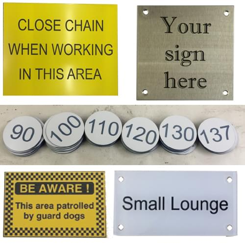 Bespoke signs