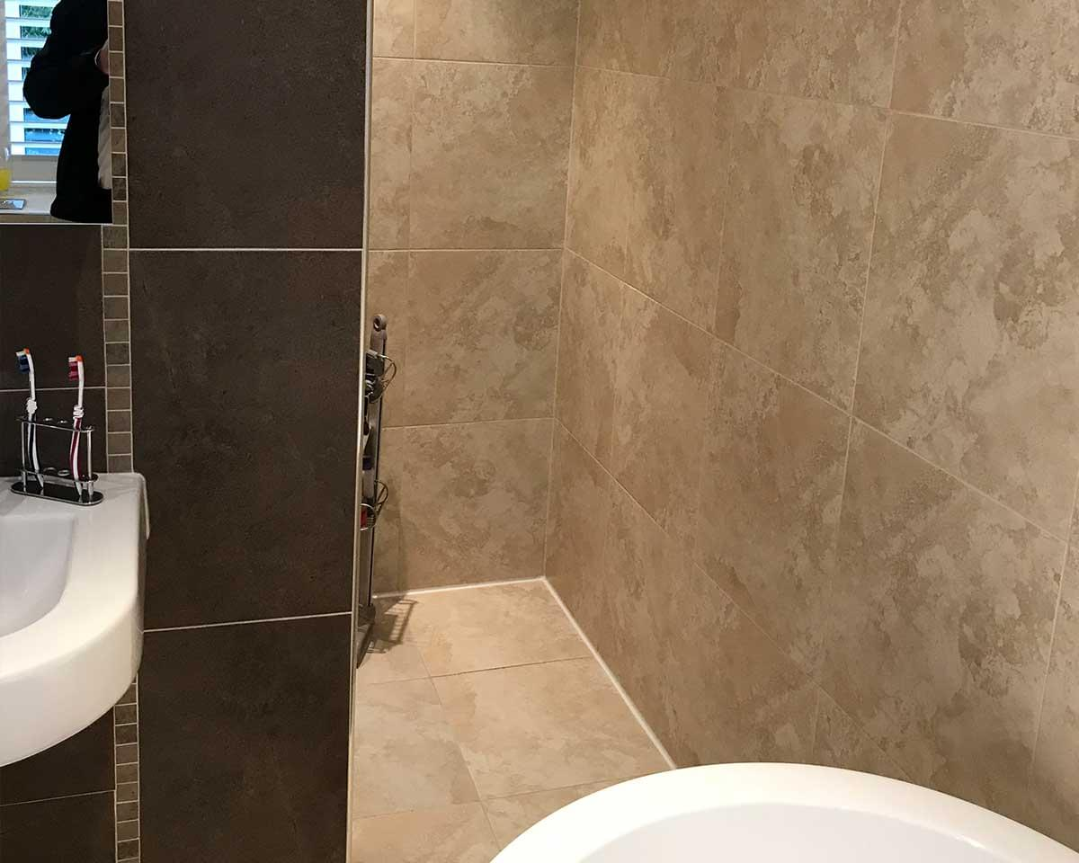 2 Large Bathrooms, Detached House, Wilmslow, Cheshire before 2