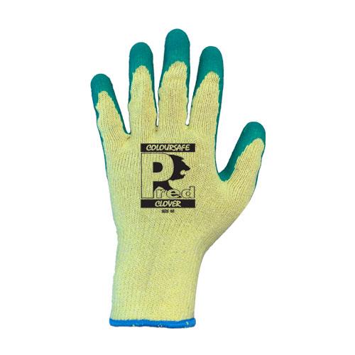 Pred clover Green Latex work Glove