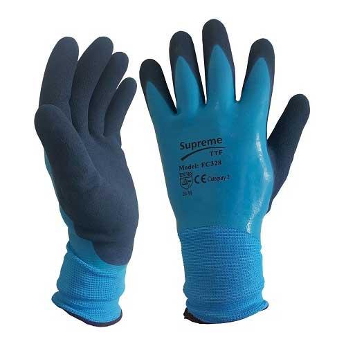 Blue Aqua Latex Coated Waterproof