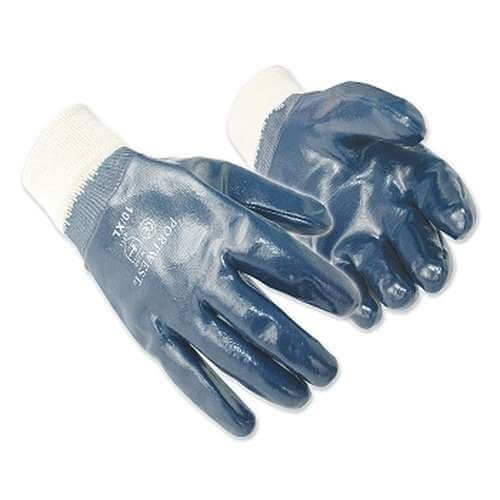 The A300 Nitrile Knit wrist work gloves