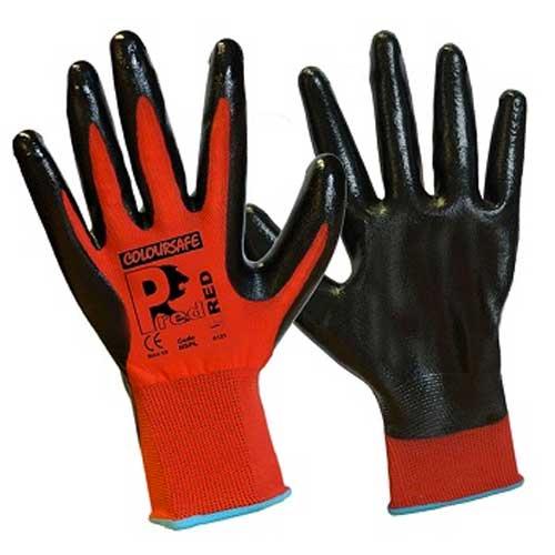 NSPL Pred grip nitrile gloves Large