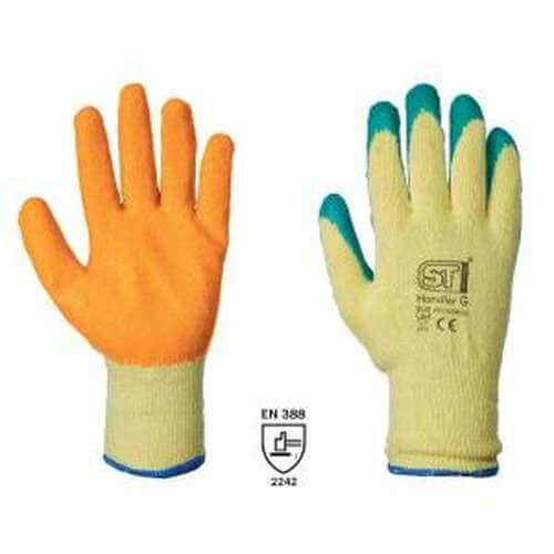 Green/Orange Grip Work Glove