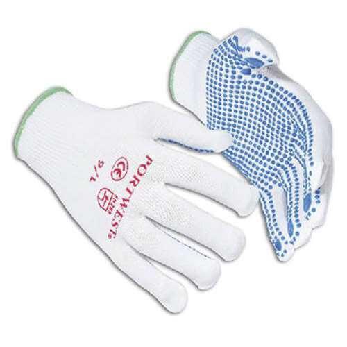 A110: Nylon Polka Dot Work Glove