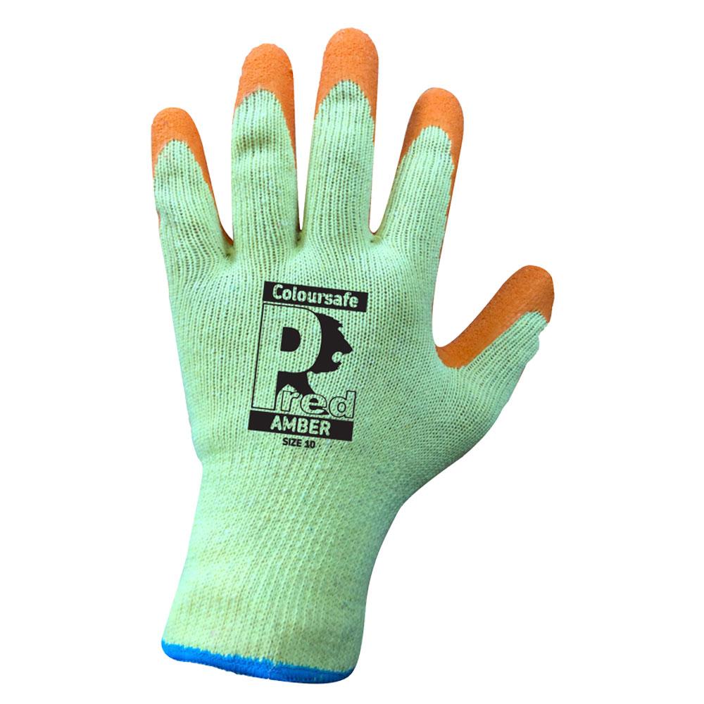 Pred 4 Grip Orange Latex work gloves