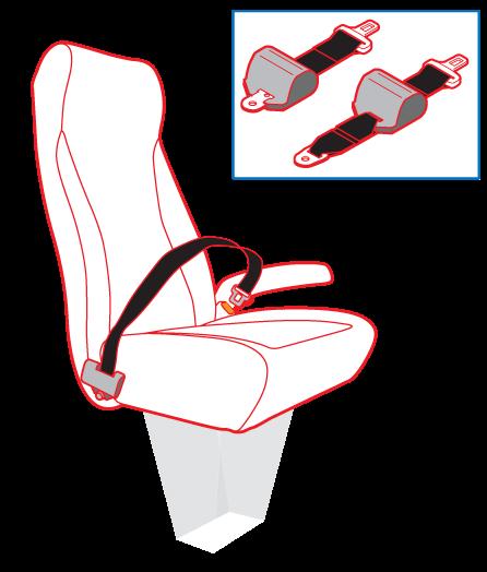 Lap belt illustrations