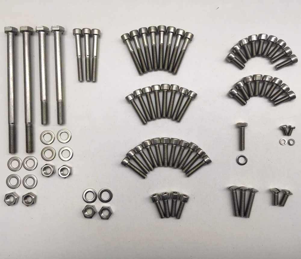 Ducati 250/350/450 stainless engine fasteners set  (wide case)