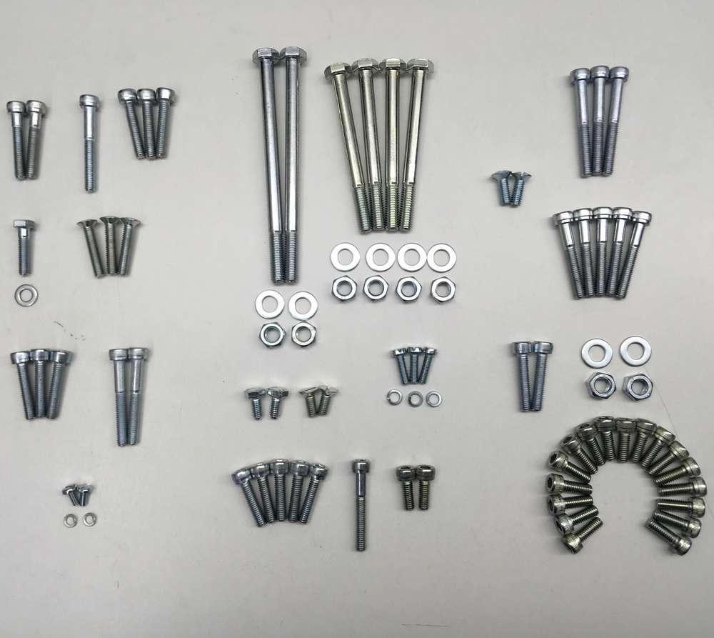 Ducati 175/200/250/350 zinc plated engine fasteners set (narrow case)
