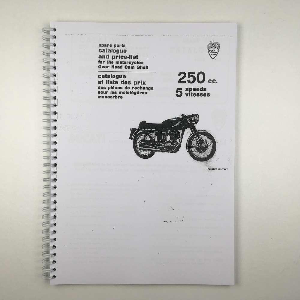 Ducati 250 5 speed Narrow case Parts catalogue