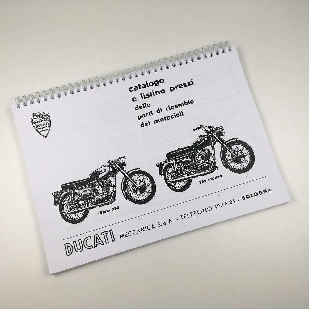Ducati 250  4 speed Narrow case Parts catalogue