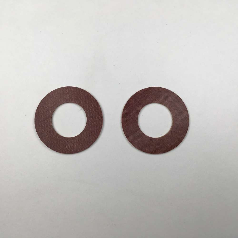Steering damper friction washers
