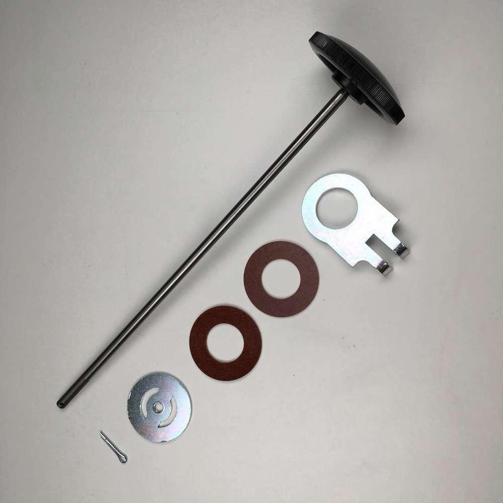 Narrow case steering damper rod kit