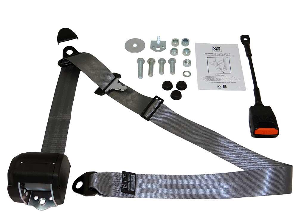 Classic Mini Front Seat Belt Kit - Grey