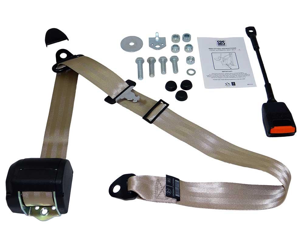Classic Mini Front Seat Belt Kit - Beige