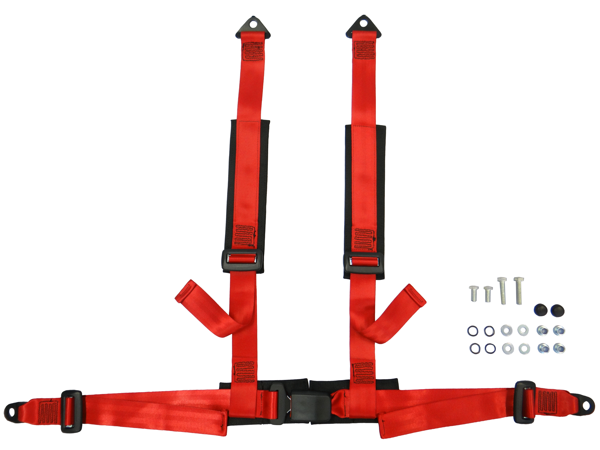 Sbs 4 Point Harness (Red) Without Flash - Anchor Plate Fixing