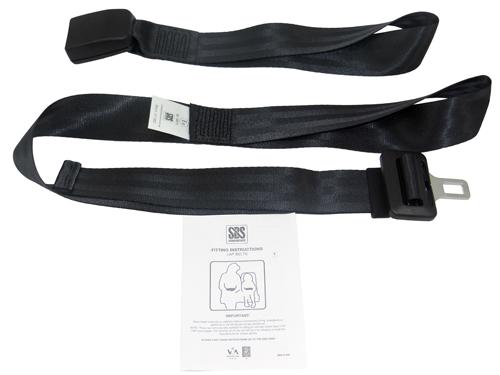 2 Point Static Lap Belt & 400Mm Webbing Buckle - Loop Belt