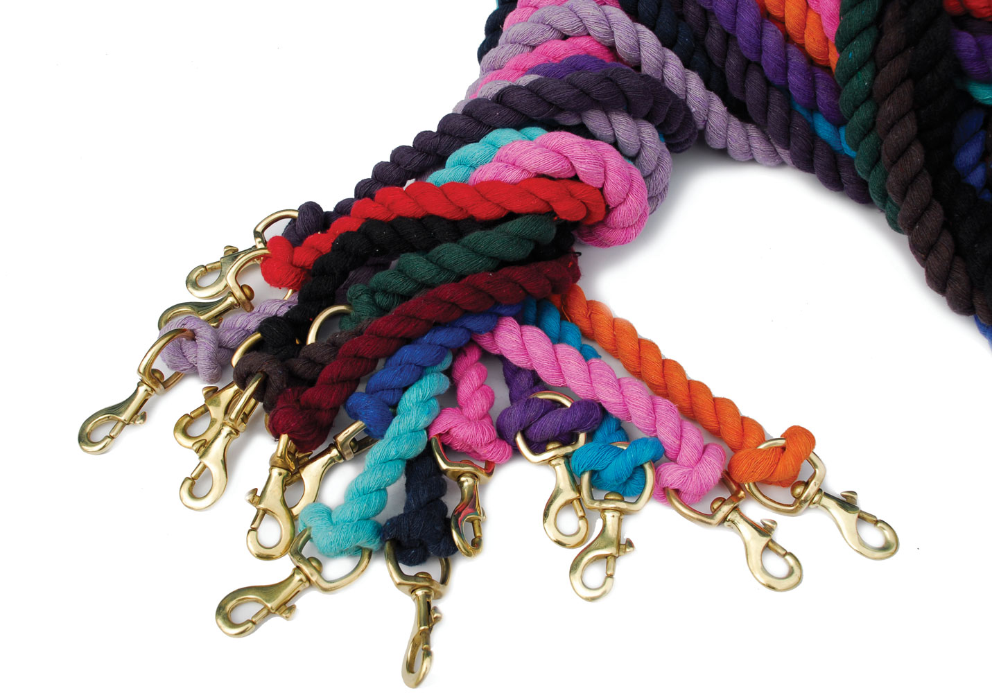 Cotton Lead Rope With Brass Trigger Hook