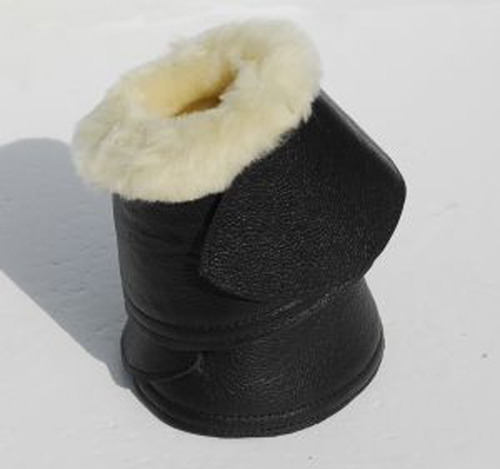 Elite Sheepskin Trimmed Leather Covered Neoprene Over Reach Boots