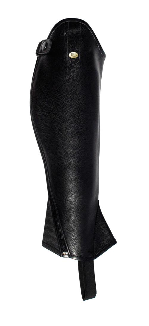 Elite Curved Zip Leather Gaiters