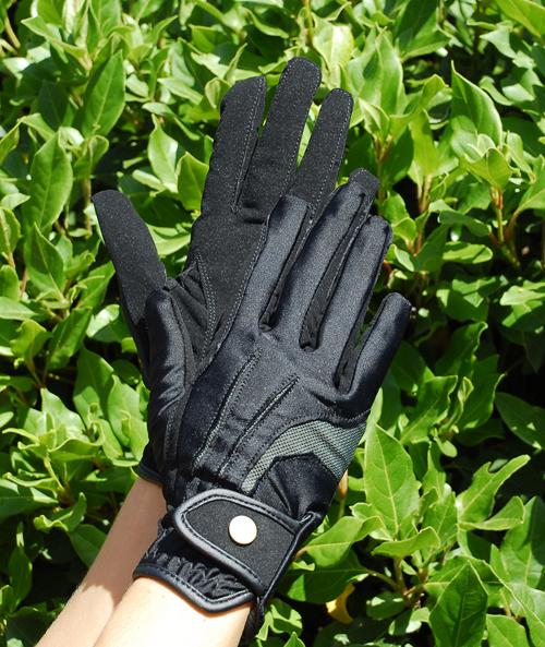 Elite Stretch Nubuck Suede Riding Gloves