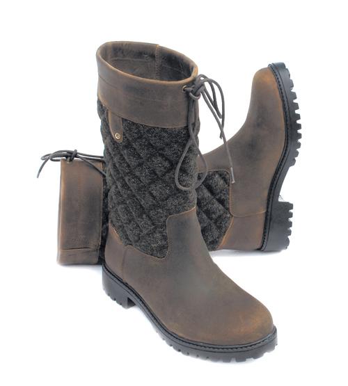 Elite Georgia Tweed Leather Country Boots