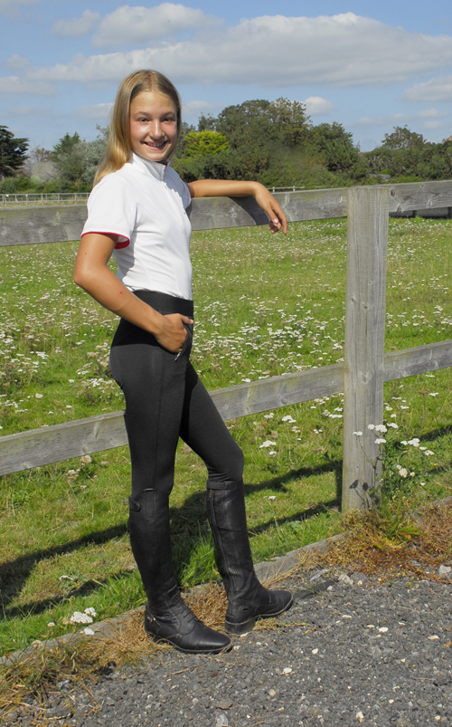 Childs Silicone Knee Riding Tights