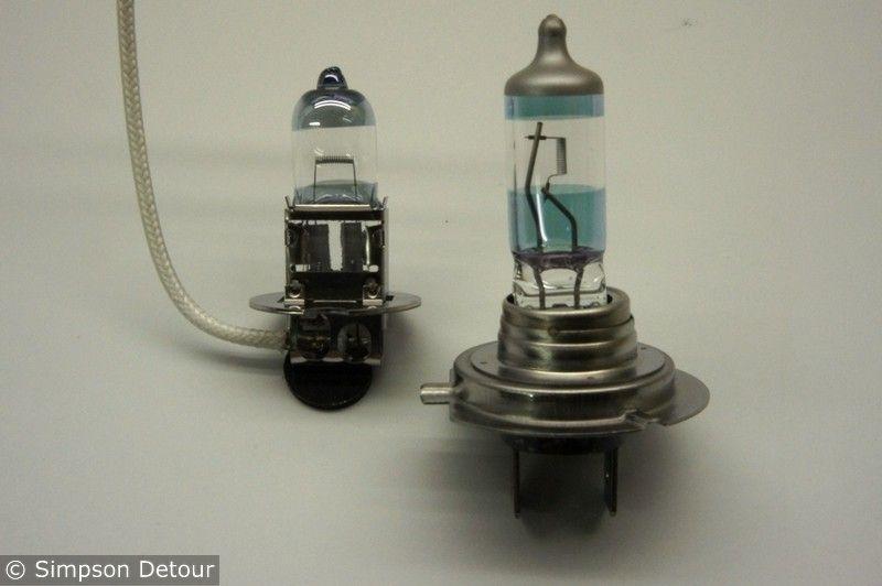 H3+H7 Headlight Bulb Upgrade Bulbs