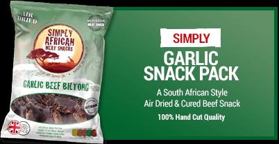 Simply African Biltong Snack-pack 35g Garlic