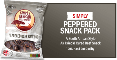 Simply African Biltong Snack-pack 35g Peppered