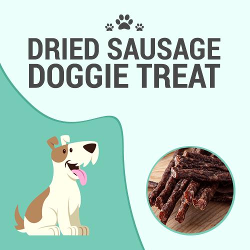 Dried Sausage Doggie Treat