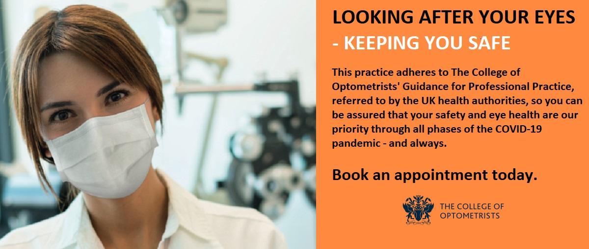 Optometrists Covid Banner