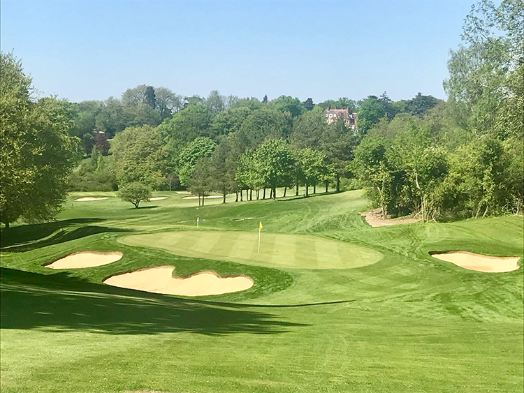 TYRRELLS WOOD GC OPEN THE NEW 13TH APPROACH