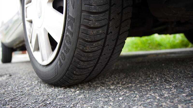 Picture of Heat Damaged Car Tyres