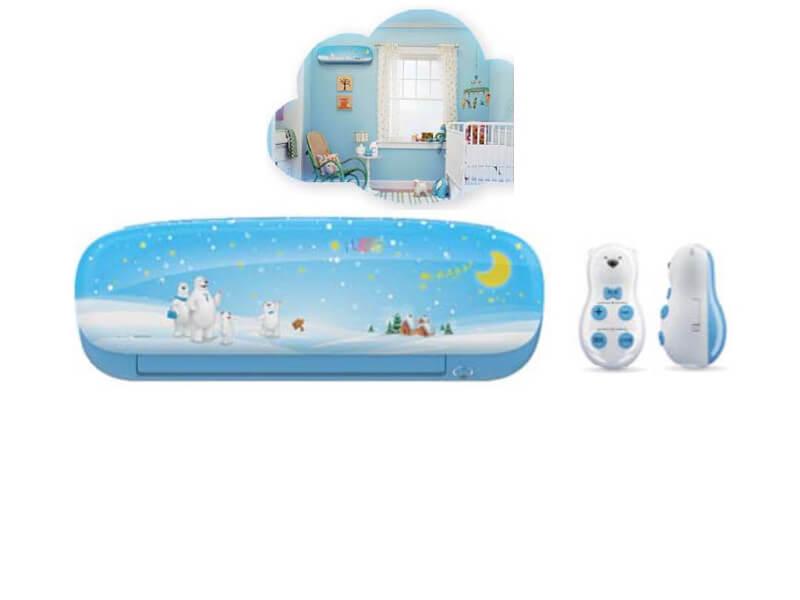 Clim mural Midea Inverter Kid Star Blue 9000 Btu/h MSEAAU/MOA01-09C Classe A++