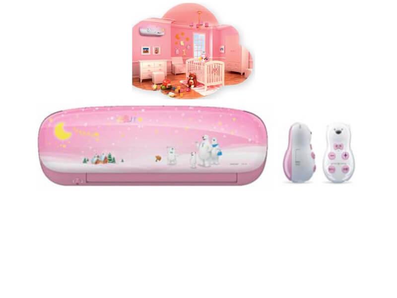 Clim mural Midea Inverter Kid Star Pink 9000 Btu/h MSEAAU/MOA01-09C Classe A++