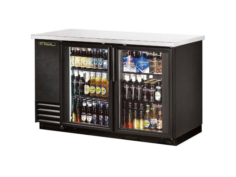 Réfrigérateur de bar vitré True TBB-2-LD